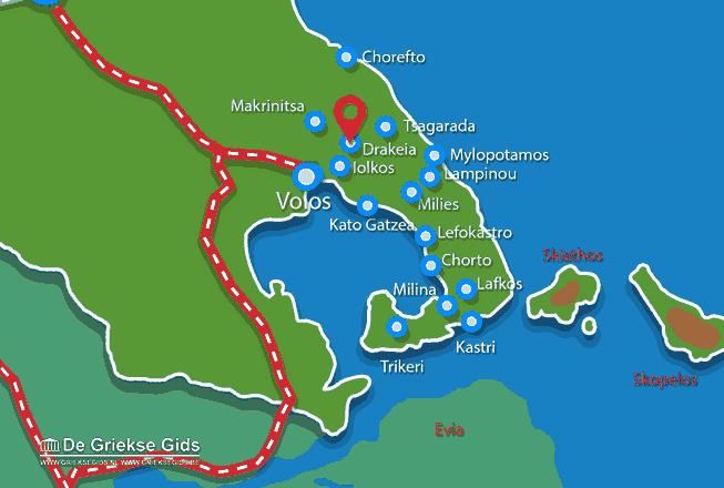Karte Drakeia Pilion