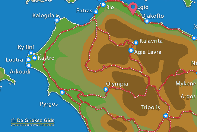 Karte Egio