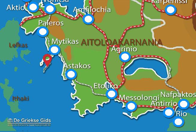 Karte Kastos (Insel)