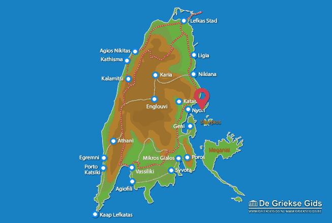 Karte Madouri (Insel)
