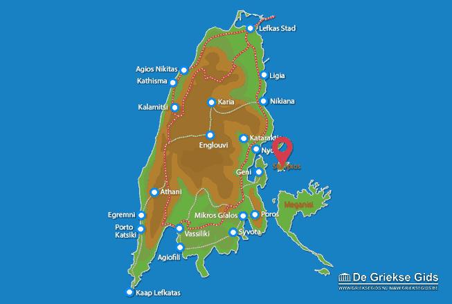 Karte Skorpios (Insel)