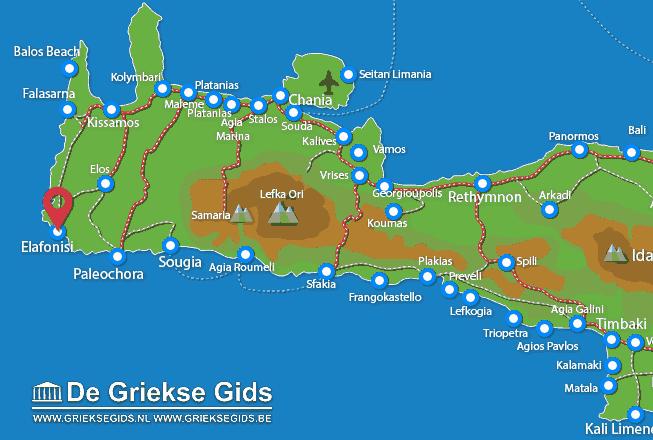 Karte Elafonisi