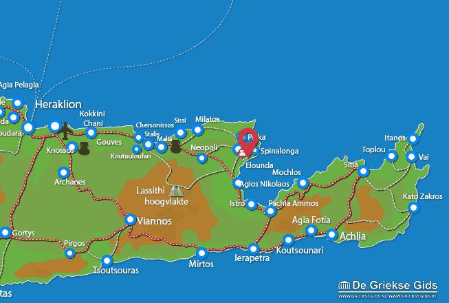 Karte Elounda