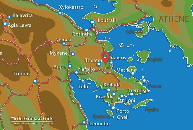 Karte Epidavros