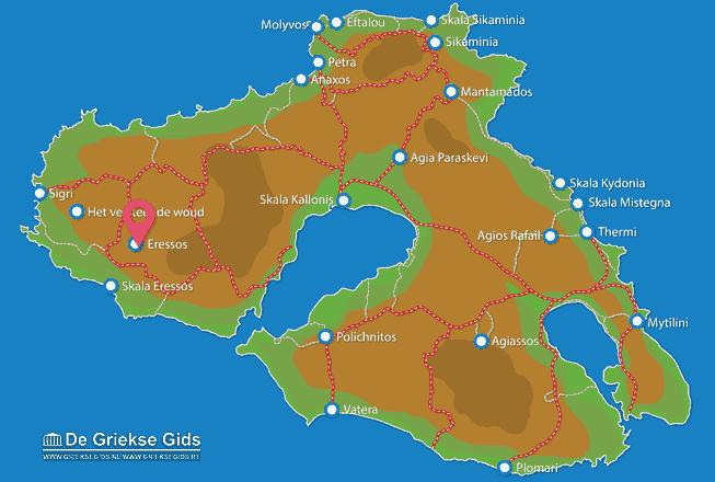 Karte Skala Eressos