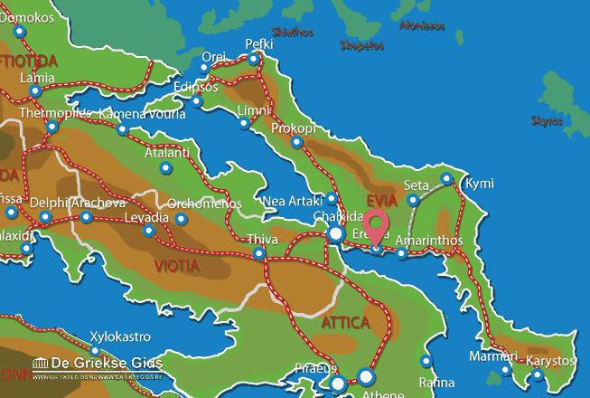Karte Eretria