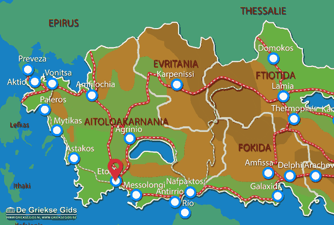 Karte Etoliko