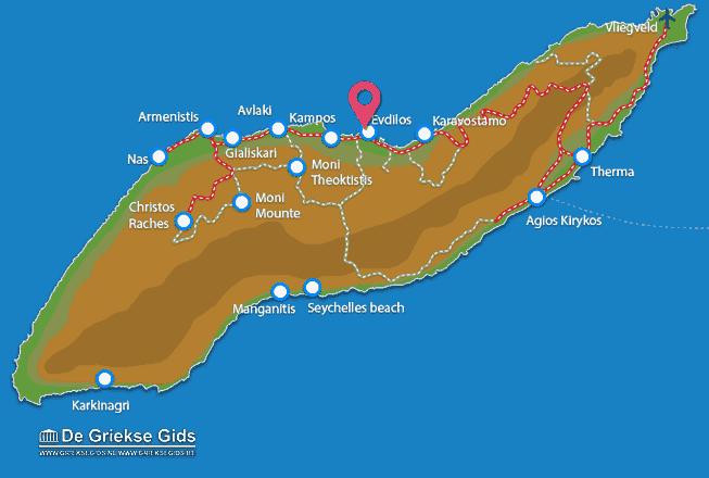 Karte Evdilos