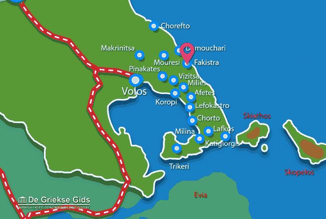 Karte Fakistra Pilion