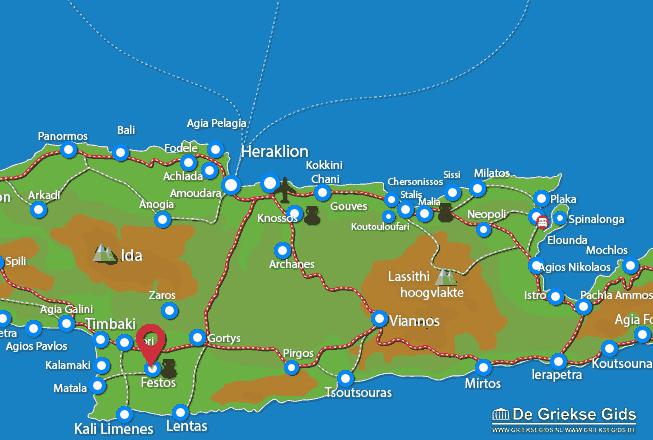 Karte Festos