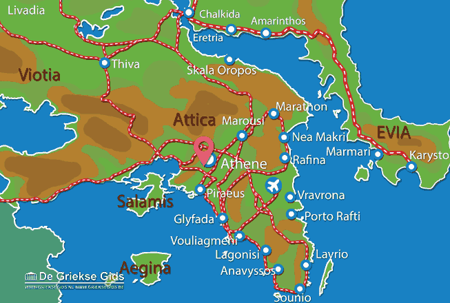 Karte Filopappos-Hügel