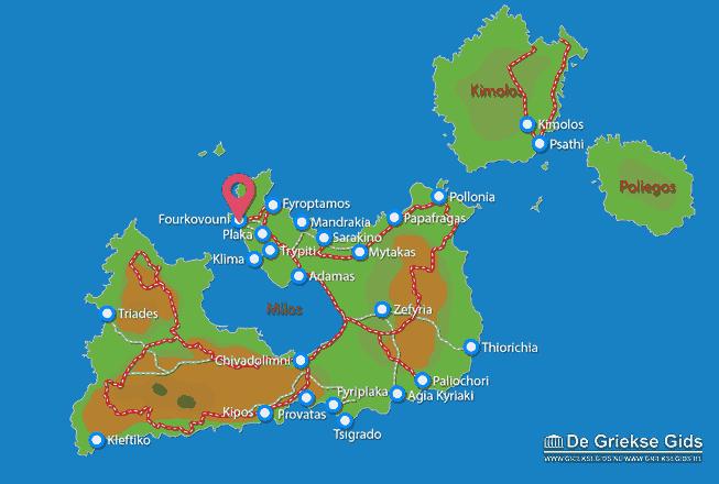 Karte Fourkovouni