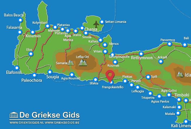 Karte Frangokastello