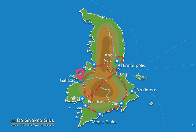 Karte Galissas