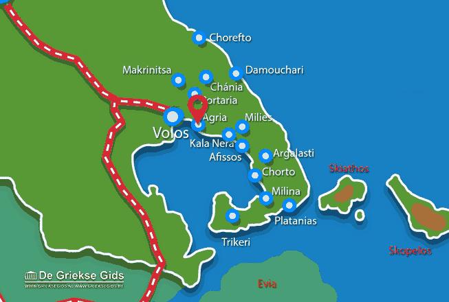 Karte Agria Pilion