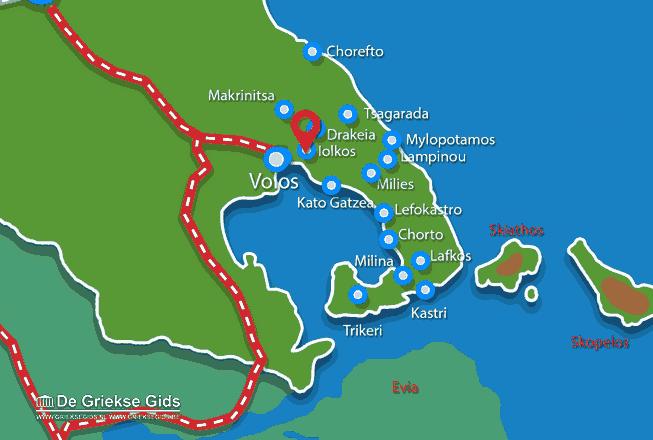 Karte Iolkos