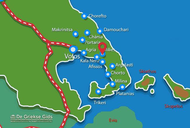 Karte Milies Pilion