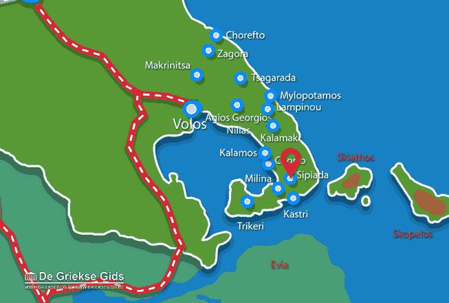 Karte Tzasteni Pilion