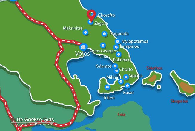 Karte Zagora Pilion