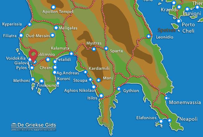 Karte Gialova