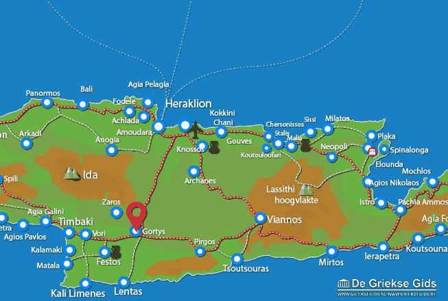 Karte Gortys