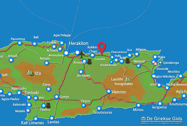 Karte Gouves
