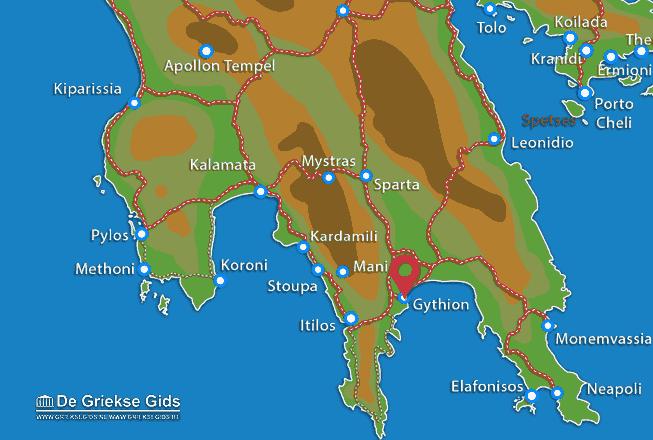 Karte Gythio