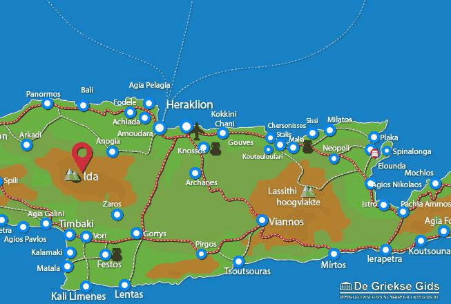 Karte Ida Gebirge