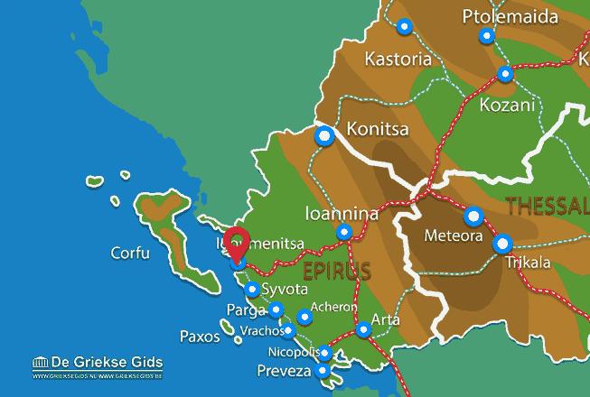 Karte Igoumenitsa