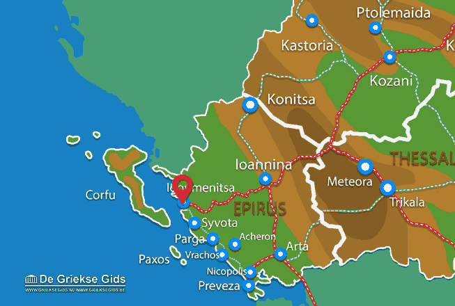 igoumenitsa griechenland karte Igoumenitsa Thesprotia | Urlaub in Igoumenitsa Griechenland