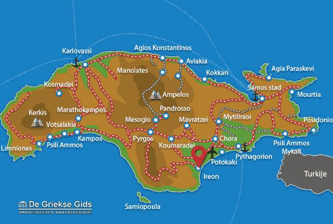 Karte Ireon