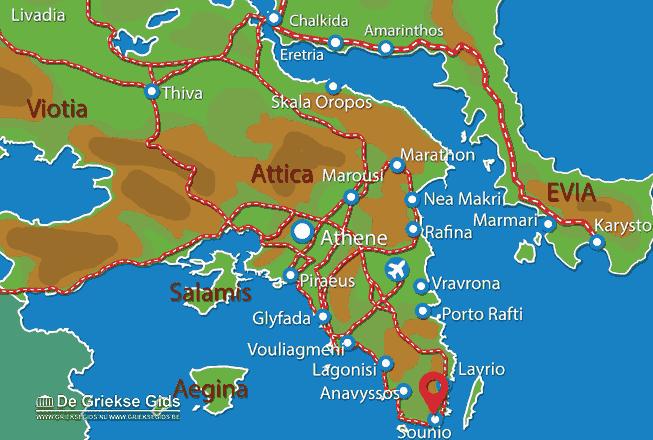 Karte Sounion