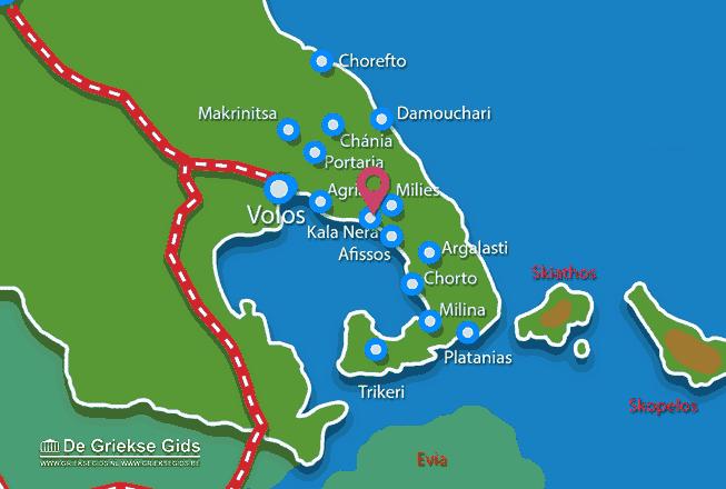 Karte Kala Nera Pilion
