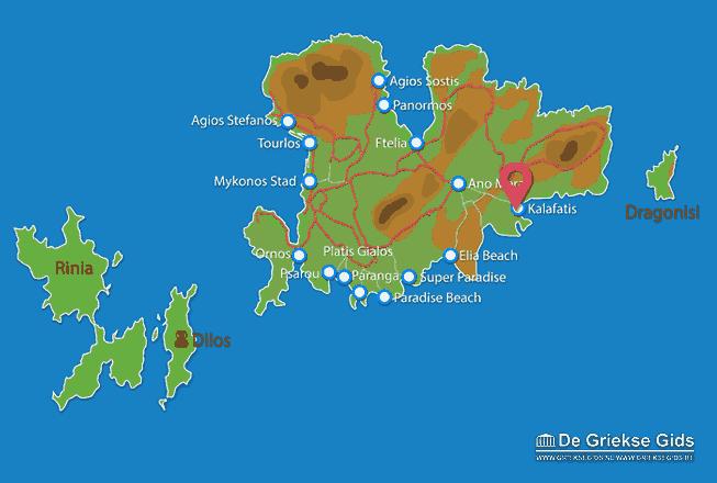 Karte Kalafatis