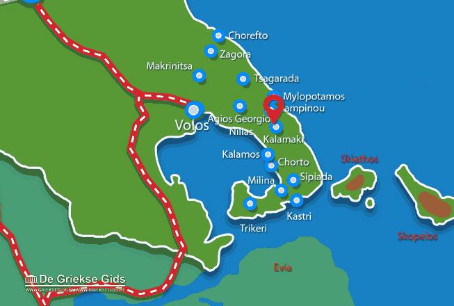 Karte Kalamaki Pilion