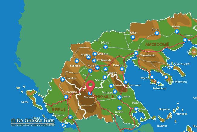 Karte Kalambaka