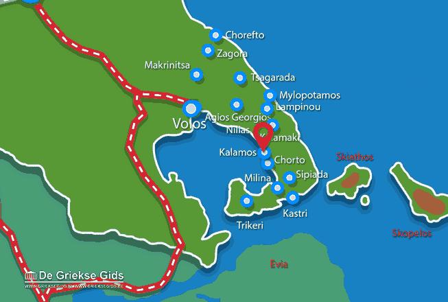 Karte Kalamos Pilion