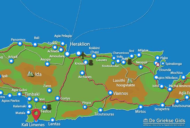 Karte Kali Limenes