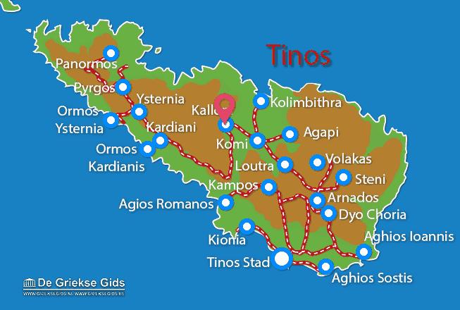 Karte Kalloni