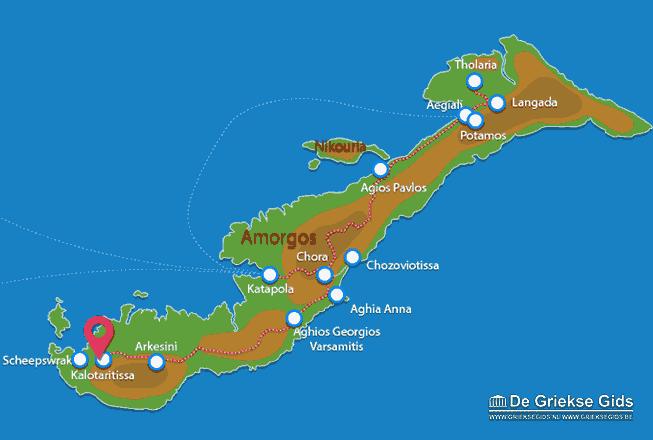Karte Kalotaritissa