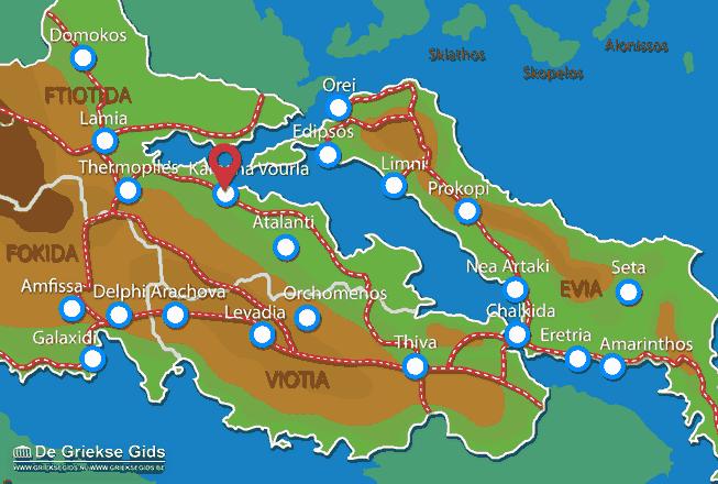 Karte Kamena Vourla