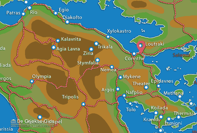 Karte Kanal Korinthe