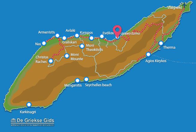 Karte Karavostamo