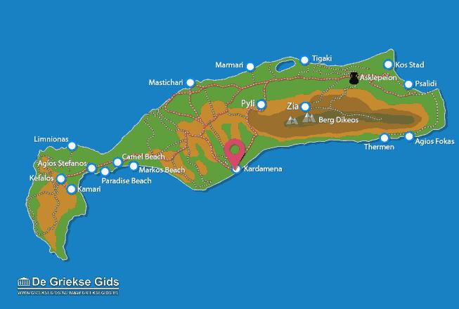 Karte Kardamena