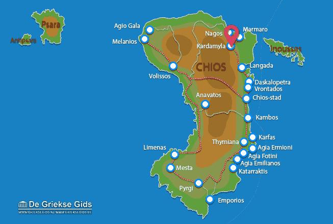 Karte Kardamyla