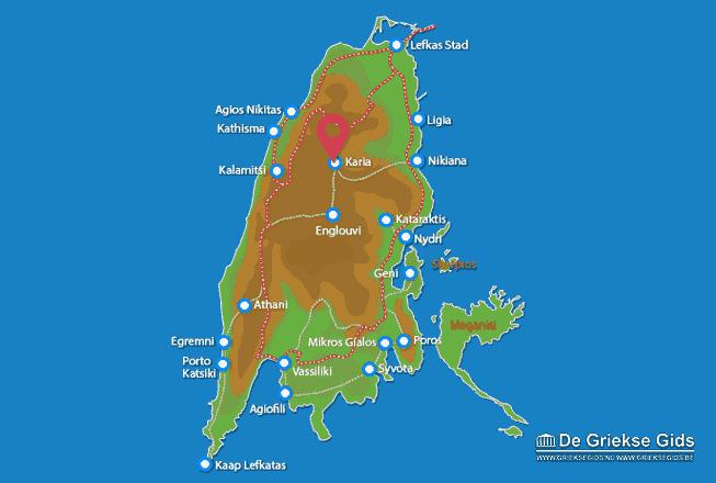 Karte Karia