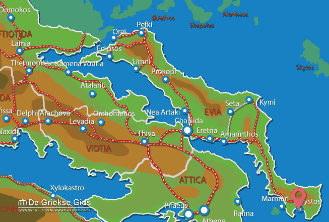 Karte Karystos