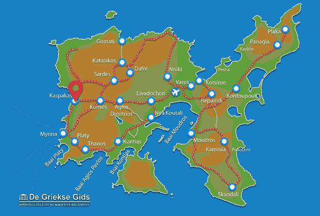 Karte Kaspakas