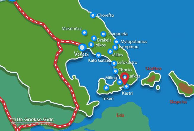Karte Kastri Pilion