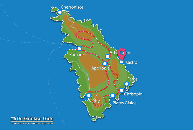 Karte Kastro
